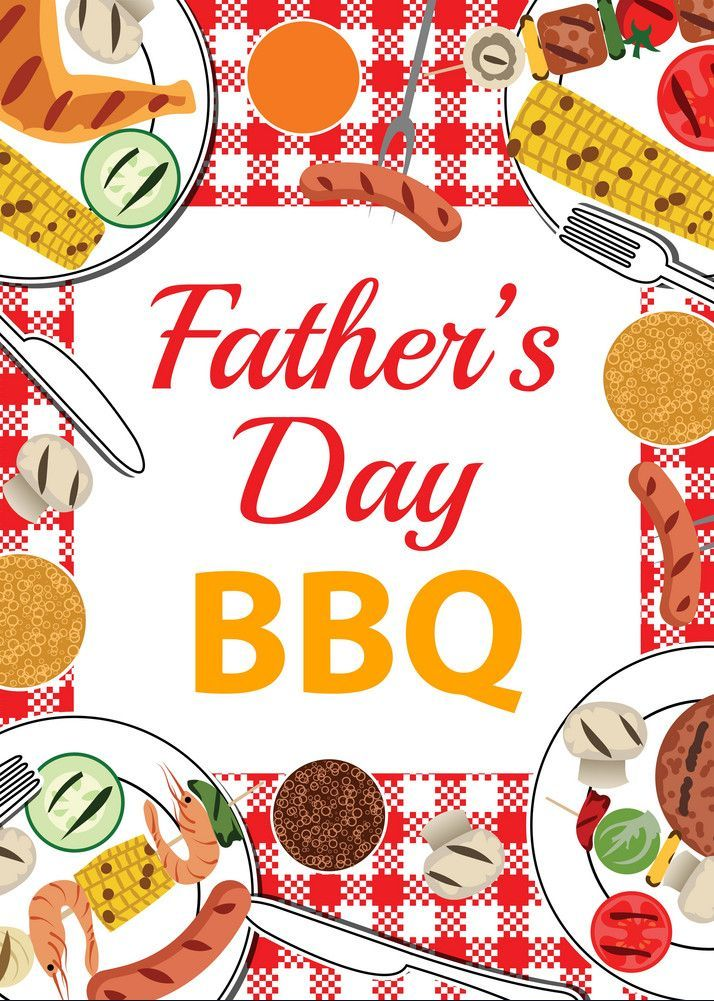 Fathers day bbq Royalty Free Vector Image - VectorStock